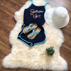 Joe Fresh girls thong sandals size 13 in blue